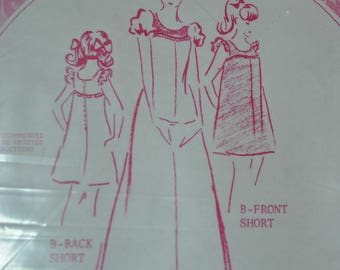 Vintage 1970s Patterns Pacifica 3033 Sewing Pattern Empire Waist Dress, Hawaiian UNCUT, Size 6 8 10 12 14 16 Bust 30 32 33 34 36 38