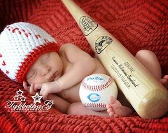 Newborn Baseball Hat, Baby Boy Baseball Hat, Baby Girl Baseball Hat, Baseball Hat Photo Prop, Crochet Baby Baseball Hall