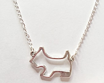 Terrier Dog Necklace - Dog Jewelry - Dog Pendant - Terrier Pendant - Terrier Jewelry - Gift For Her - Dog Lover Gift