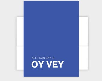Oy Vey Funny Jewish Greeting Card