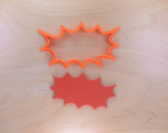 Comic Book Pow Cookie Cutter Outline