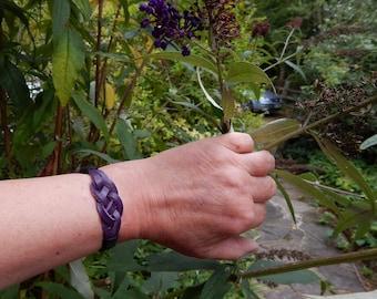 Leather Bracelet, Mans Bracelet men, Knot bracelet, Friendship bracelet, leather anniversary, lovers knot bracelet, Fathers Day Gift