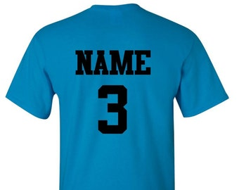 Add Glitter Name AND Number to the back of any design