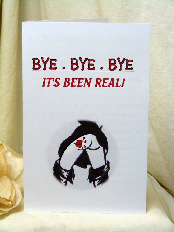 Hysterical Bye Bye Bye BREAK UP CARDS . Downloadable