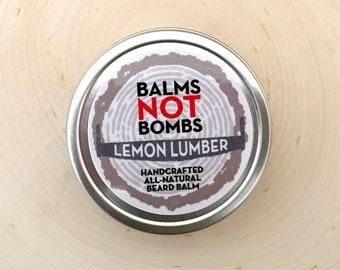 Beard Balm | Organic Beard Balm | Lemon Lumber Beard Balm 2 oz