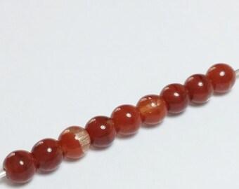 120pcs Burnt Caramel Beads - Czech Glass Beads - 4mm Beads - Glass Beads - Jewelry Supplies - GB353