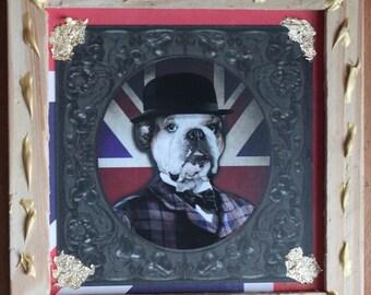 Table decor dog English Bulldog
