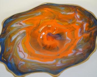 Wall Art Glass Blown Platter 636