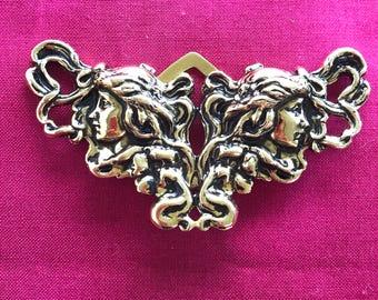 Art Nouveau scarf clip