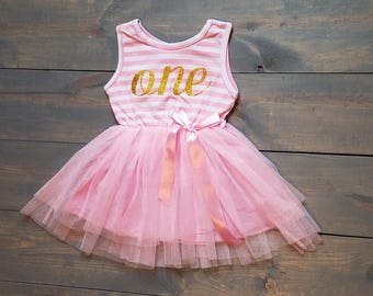 Second Birthday Outfit Toddle Baby Girl Tutu Dress #B-07
