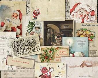 Vintage Christmas, Christmas Ephemera, Vintage Ephemera, Digital Ephemera, Digital Download, Digital Images, Printable Ephemera, Vintage