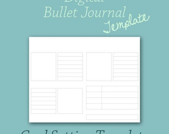 Digital Bullet Journal Template for Goal Setting