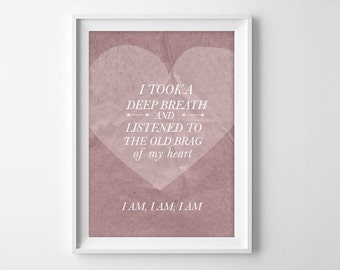 Literary Valentine's Day Gift -  Sylvia Plath Bell Jar Quote Art Print