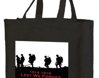 World War 1 Shopping Bag with gusset and long handles, 3 colour options
