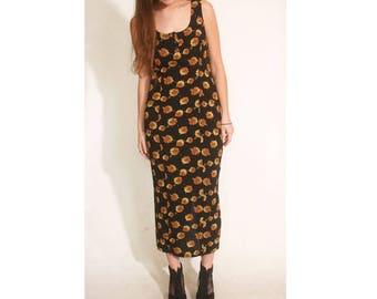 Vintage 1990s Sunflower Rampage Grunge Long Pencil I Dress size 11