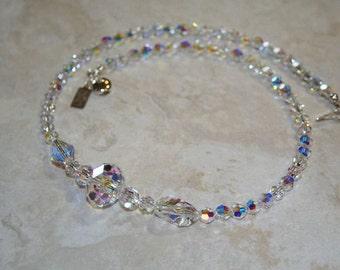 Iridescent Swarovski Crystal Necklace