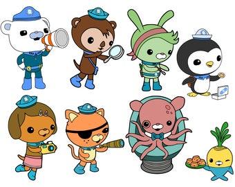 Octonauts Crew and GUPS - Disney Junior -  svg files