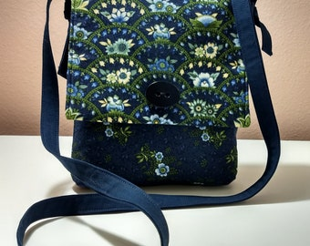 Floral Arches Mini Messenger Bag