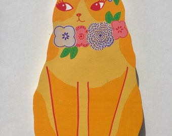 Yellow Floral Cat