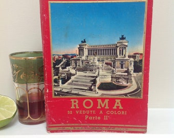 Vintage Hardcover Postcard Book of Rome by Cecami