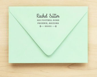 Return Address Stamp / Custom Address Stamp / Custom Return / Self Inking Return Address Stamp  - DAINTY DESIGN - Wedding Anniversary Gift