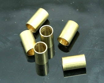 20 pcs 6x10mm (hole 5 mm ) raw brass tube ttt610 1642