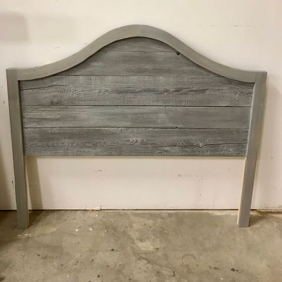 The Sharon Reclaimed wood arched top grey Headboard