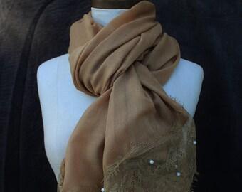 Saharah lace n pearl Hijab