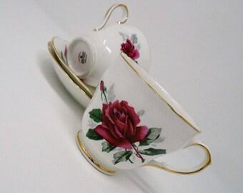 Duchess China Pandora Pink Roses Cup & Saucer