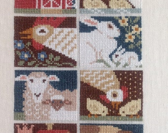 Cross Stitch Farm Animal picture