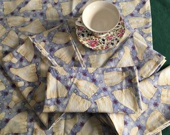 Polar Bears! Set of 6 cloth napkins