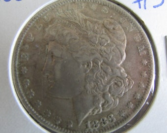 Morgan Dollar 1883 Silver Dollar Antique Coins 1883  USA Silver Coins Antique US Coin Silver US Currency Rare 1800s Coins Silver Dollar