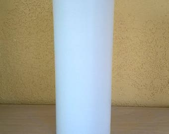 Natural white vegetable wax pillar candle