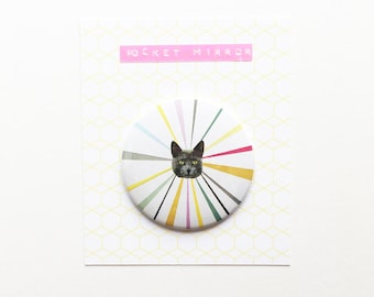 Cat Pocket Mirror 76mm / 3 inches - Cat's Eyes