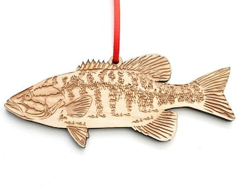 Smallmouth Bass Ornament - A Staple Game Fish Smallmouth Bass Wood Ornament
