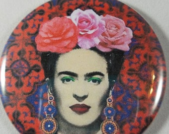 "Frida Kahlo Pocket Mirror, 2.25"" Mirror, Frida Kahlo, Purse Mirror, Glass Mirror, Birthday, Party Favor, Bridal Shower, Thank You Gift"