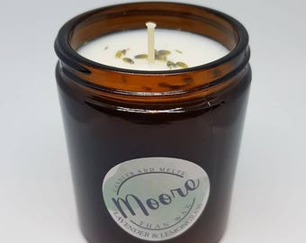 Handmade Aromatherapy Soy Wax Candle 320g Essential Oils Lavender & Lemongrass