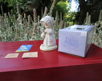 """Vintage Precious Moments Figurine """"The Lord Will Provide"""" 1992 in the Box Limited Edition"""