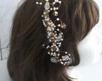 Comb hair wedding, married, hair comb hair wedding accessories, hair white pearls