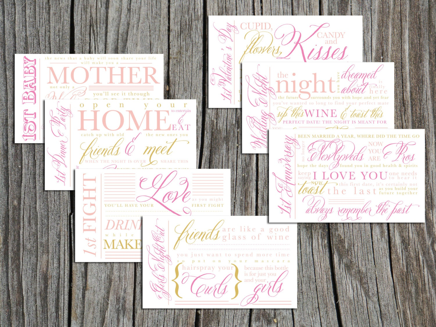 Printable Bridal Shower Wine Basket year of firsts