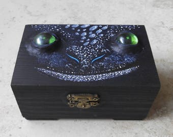 Toothless jewel Box inspired by Dragon Desdentao Toothless