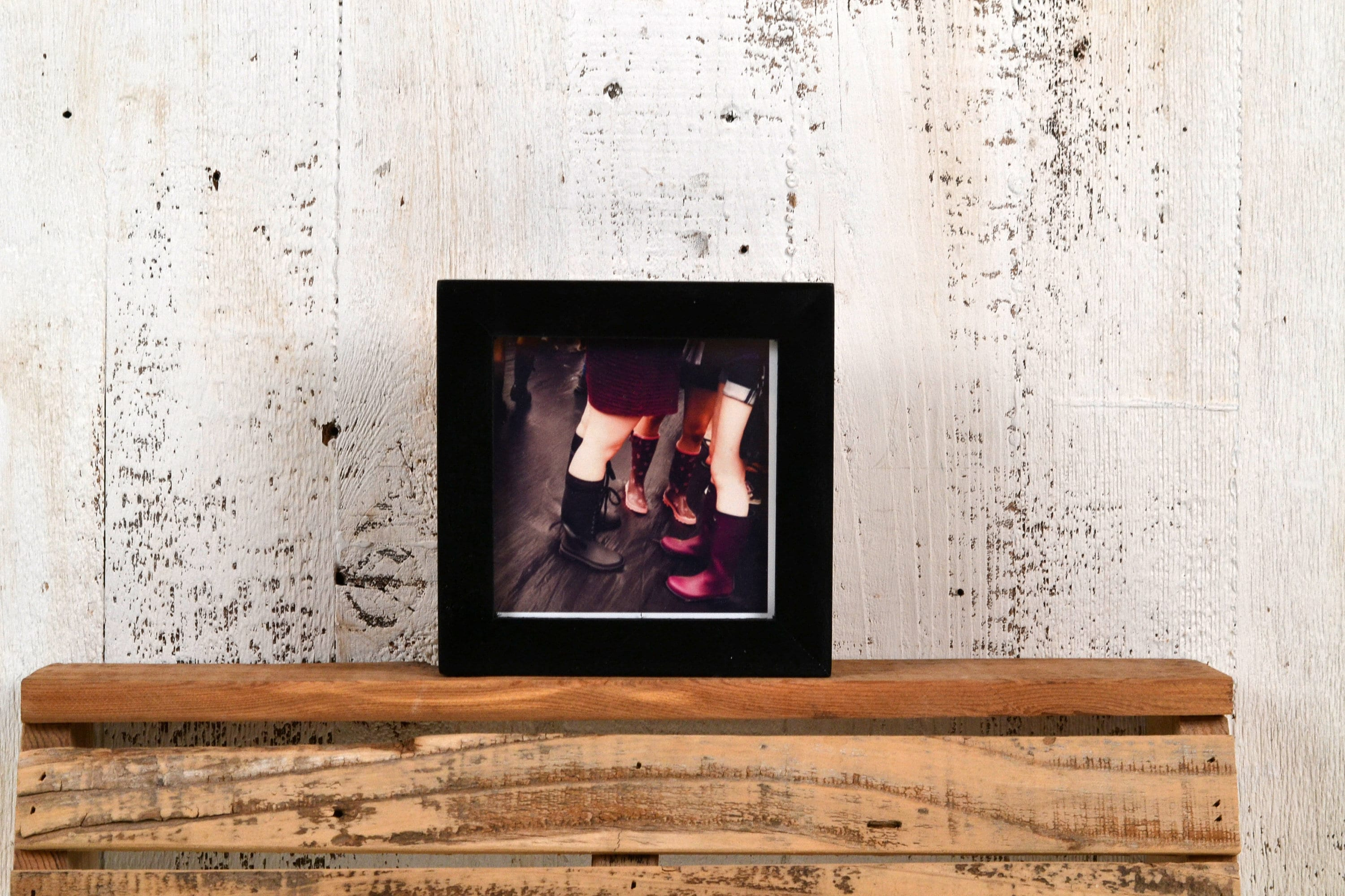 4x4 Square Photo Picture Frame in Peewee Style with Solid Black ...