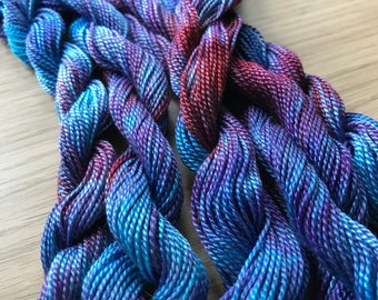 Stitch Happy hand dyed embroidery thread - African Violet Addict
