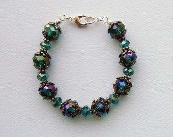 Poison Ivy emerald crystal bracelet