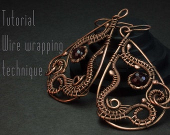 Wire Wrap Tutorial, Earrings tutorial, Wire Wrapped Earrings, Level: Intermediate