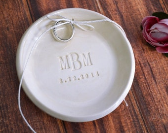 Personalized Round Monogrammed Ring Bearer Bowl - Gift Bagged & Ready to Give