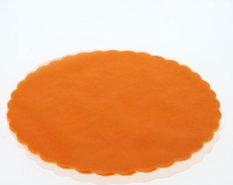 50 round Orange Fairy veils