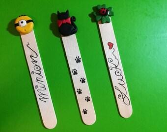 Bookmark Minion, Bookmark Cat, Bookmark luck, Bookmark ladybug, Bookmark idea, Handmade bookmark, Gift Idea, Original Bookmark, Lucky item