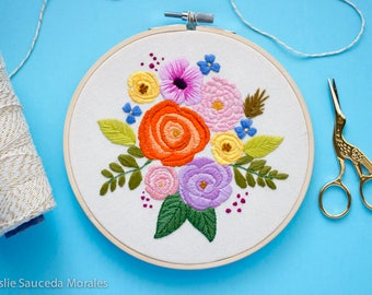 Flower Embroidery of Citrus Bouquet
