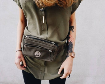 Leather fanny pack | Waist bag